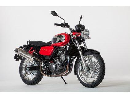 Jawa 660 Vintage - červená barva