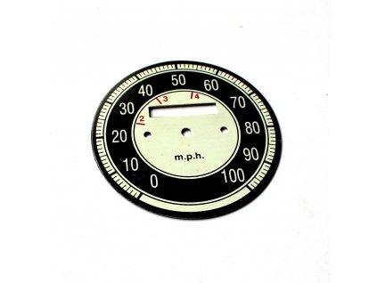 Ciferník tachometru Jawa - (100 MPH)