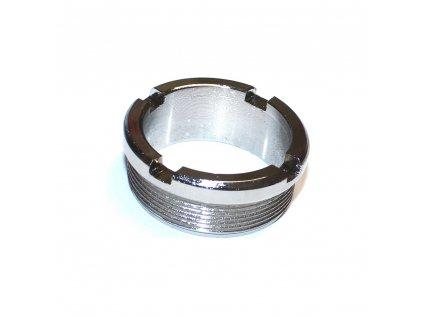 Matice kolene výfuku a tlumiče výfuku Jawa 90 chromovaná - (stoupání závitu 1,25 mm)