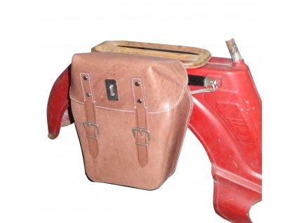 Brašna na nosič moped Jawetta - (kožená)