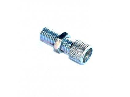 Šroub do víčka karburátoru - (pro nastavení délky lanka - závit 6 x 0,75)