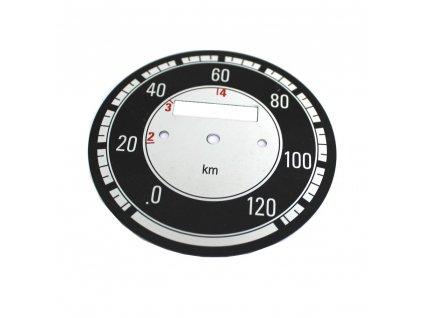 Ciferník tachometru Kývačka do 120 km/h