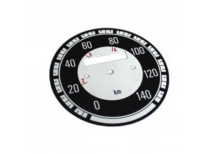 Ciferník tachometru Kývačka do 140 km/h