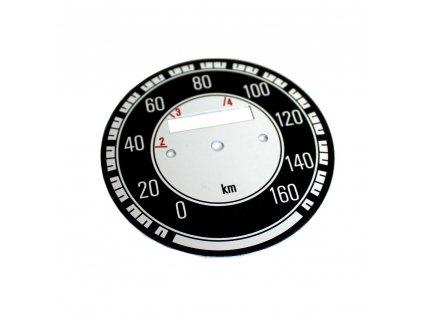 Ciferník tachometru Kývačka do 160 km/h