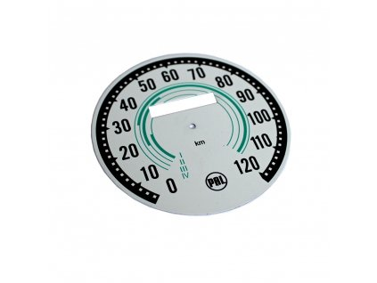 Ciferník tachometru Mezityp do 120 - (zelený)