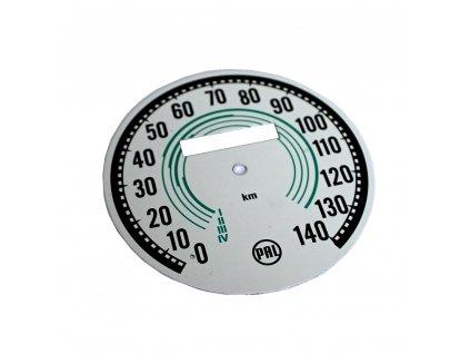 Ciferník tachometru Mezityp do 140 - (zelený)