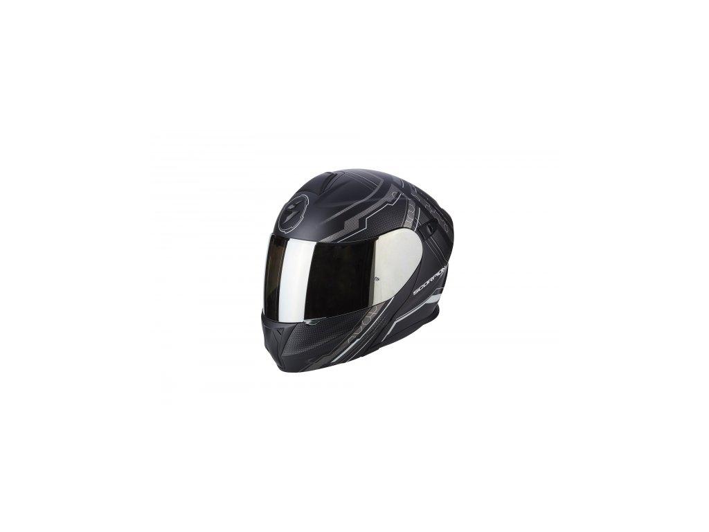 722df4405c5 Moto přilba SCORPION EXO-920 SATELLITE matná černo stříbrná - Motovohoz
