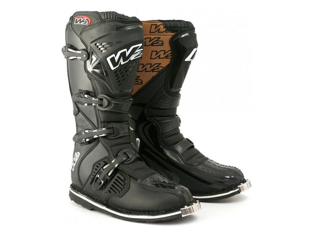 c8554d7d7dc Pánské moto boty W2 E-MX6 černé - Motovohoz