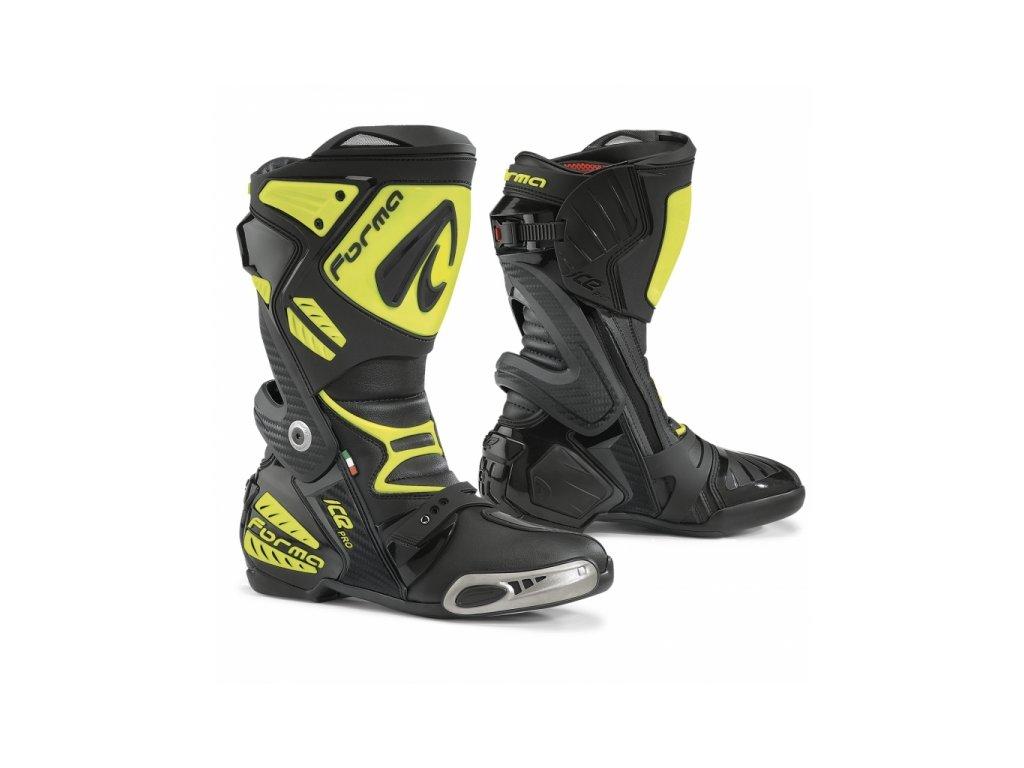 5911f94788a Moto boty FORMA ICE PRO černo žluté fluo - Motovohoz