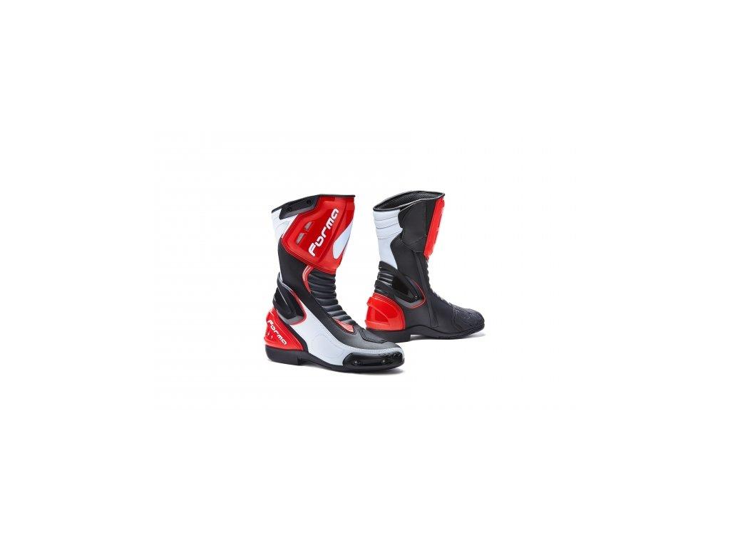 Moto boty FORMA FRECCIA černo bílo červené - Motovohoz db643aebef