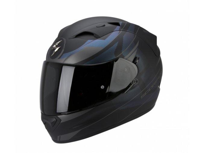 Moto přilba SCORPION EXO-1200 AIR FULMEN černá matná/černý chameleon/stříbrná
