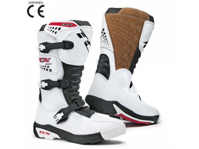 Dětské moto boty TCX COMP KID bílé