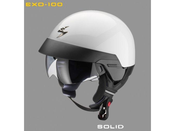 Moto přilba SCORPION EXO-100 bílá