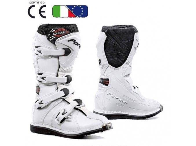 Dětské moto boty FORMA COUGAR bílé