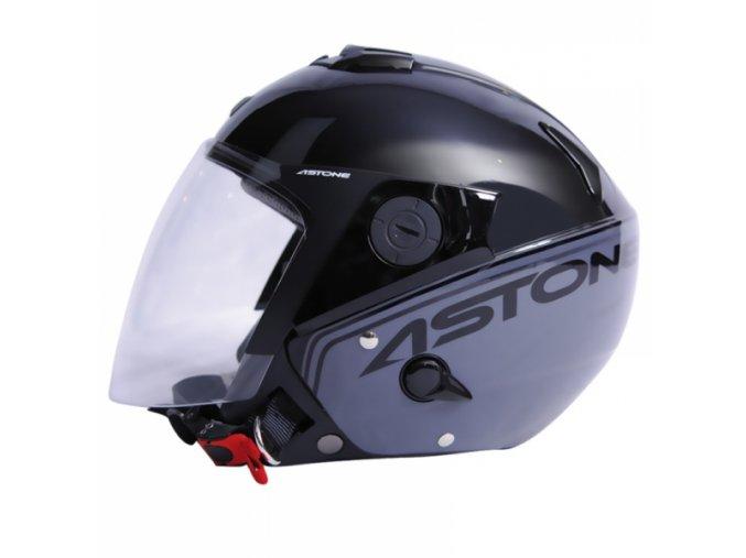 Moto přilba ASTONE RS exclusive SENSE černo/šedá M