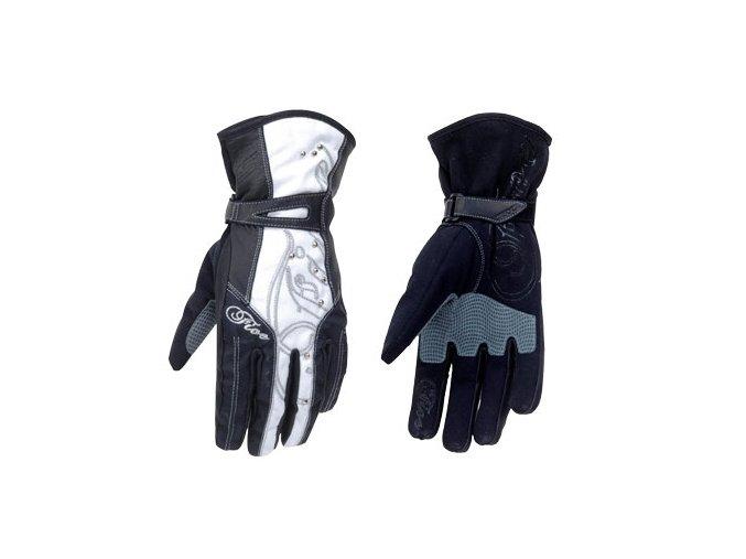 Dámské moto rukavice FIVE WFX2 černobílé