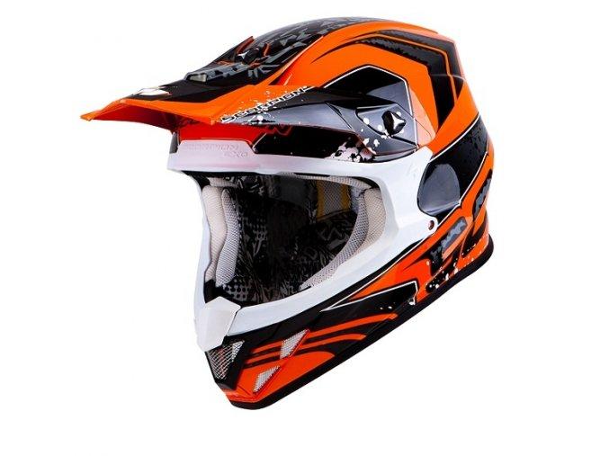Moto přilba SCORPION VX-20 AIR QUARTZ oranžová/černá S