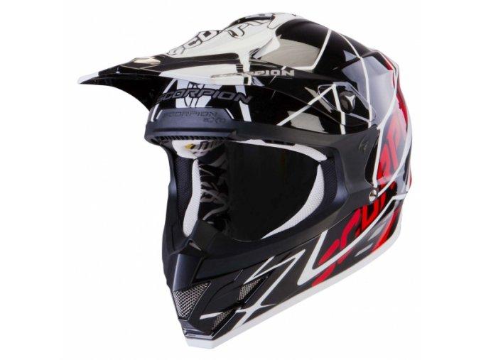 Moto přilba SCORPION VX-15 AIR SPRINT černo/bílo/červená XL