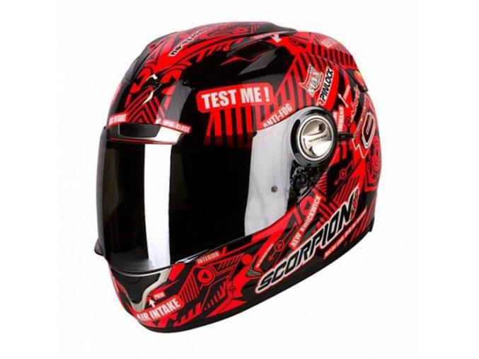 Moto přilba SCORPION EXO-1000 AIR E11 TEST ME neonově červená XL