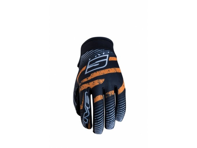 Moto rukavice FIVE PLANET FASHION logo oranžové