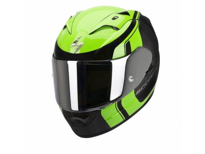 Moto přilba SCORPION EXO-1200 AIR STREAM TOUR černo/zelená