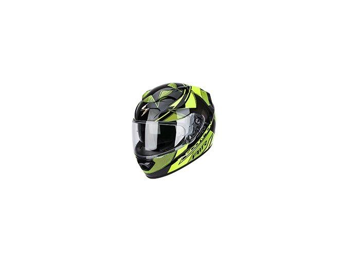 Moto přilba SCORPION EXO-1200 AIR STELLA černo/neonově žlutá