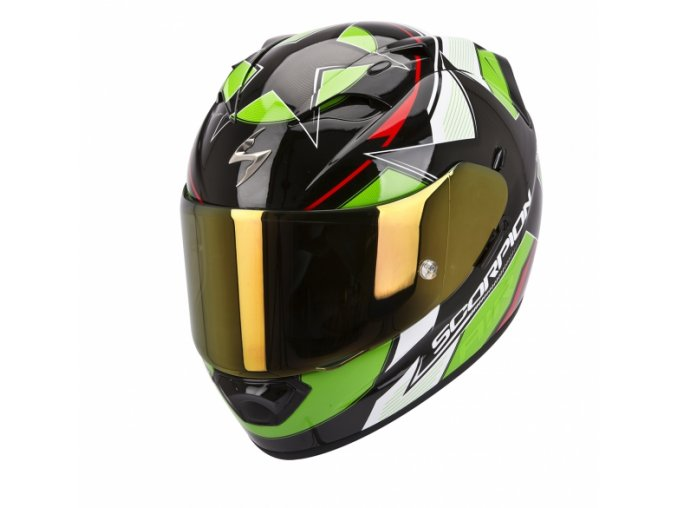 Moto přilba SCORPION EXO-1200 AIR STELLA černo/zeleno/červená