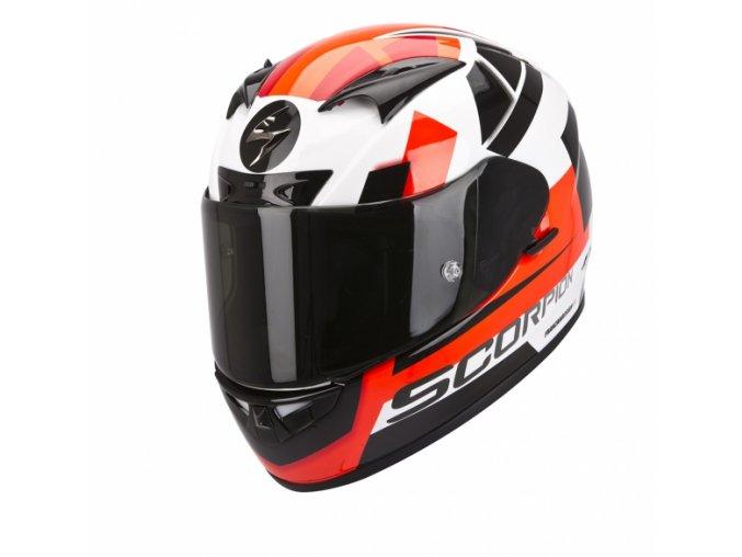 Moto přilba SCORPION EXO-710 AIR SQUARE bílo/červená