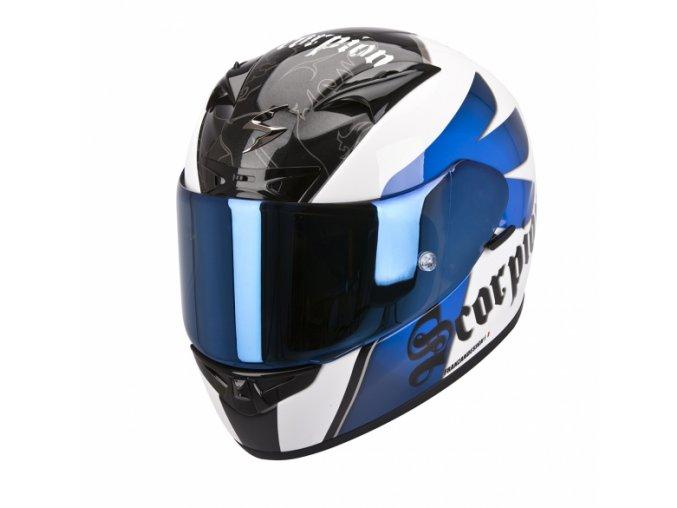 Moto přilba SCORPION EXO-710 AIR KNIGHT bílo/modrá