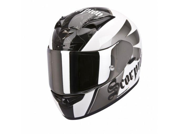 Moto přilba SCORPION EXO-710 AIR KNIGHT bílo/stříbrná
