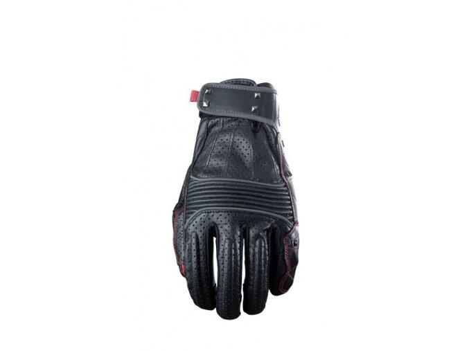 Moto rukavice FIVE FLORIDA leather černo/červené