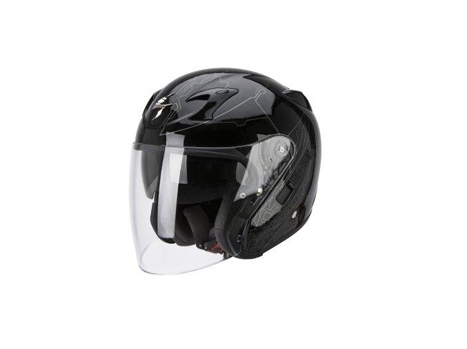 Moto přilba SCORPION EXO-220 ION černo/stříbrná