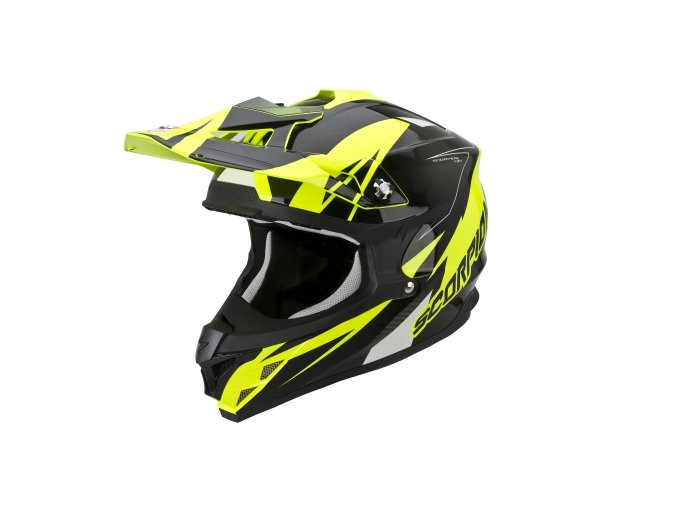 Moto přilba SCORPION VX-15 EVO AIR KRUSH neonově žluto/černá