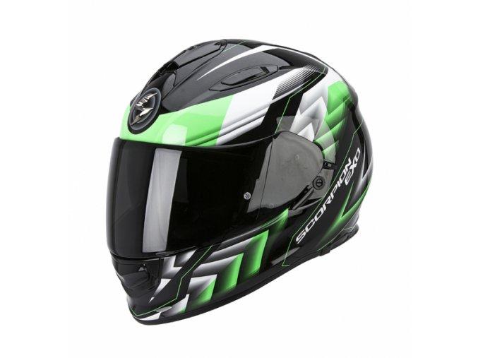 Moto přilba SCORPION EXO-510 AIR SCALE černo/zelená