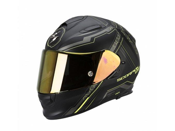 Moto přilba SCORPION EXO-510 AIR SYNC černo/neonově žlutá matná