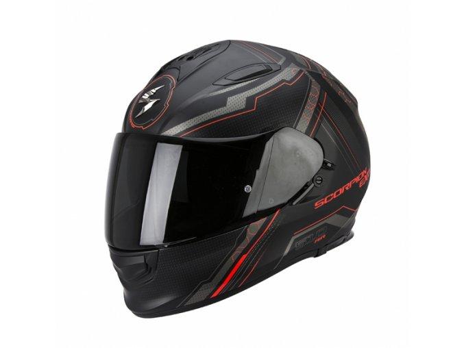 Moto přilba SCORPION EXO-510 AIR SYNC černo/neonově červená matná