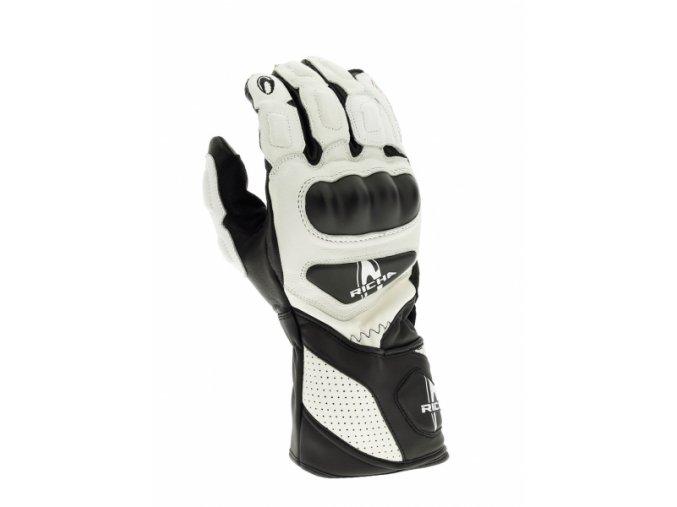 Moto rukavice RICHA RS 86 bílé