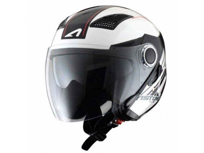 Moto přilba ASTONE FJ10 ESPADA bílo/černá