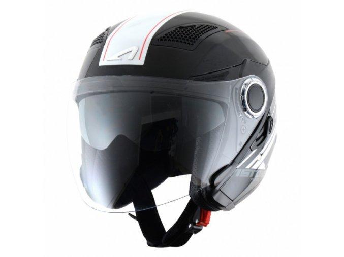 Moto přilba ASTONE FJ10 ESPADA černo/bílá