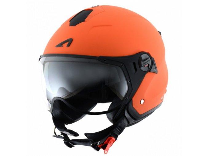 Moto přilba ASTONE MINIJET S SPORT oranžová matná