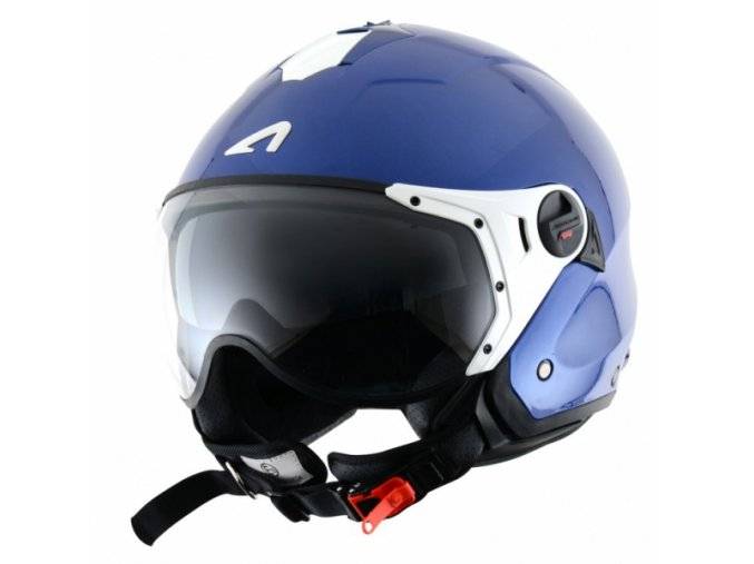 Moto přilba ASTONE MINIJET S SPORT metallic modrá