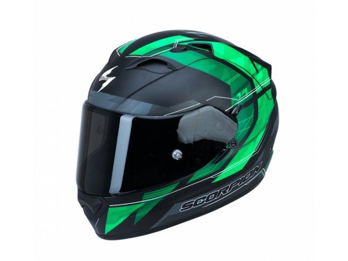 Moto přilba SCORPION EXO-1200 AIR HORNET zelená matná