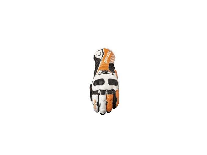 Moto rukavice FIVE RFX4 REPLICA bílo/oranžové