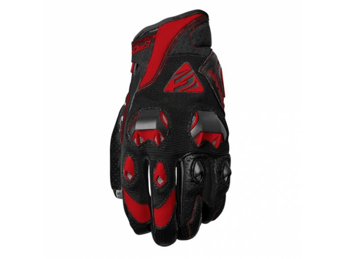 Moto rukavice FIVE STUNT EVO černo/červené