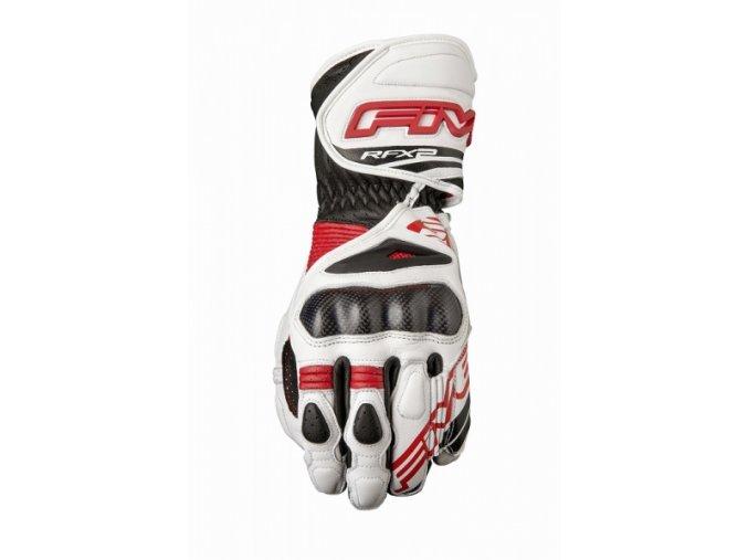 Moto rukavice FIVE RFX2 bílo/červené