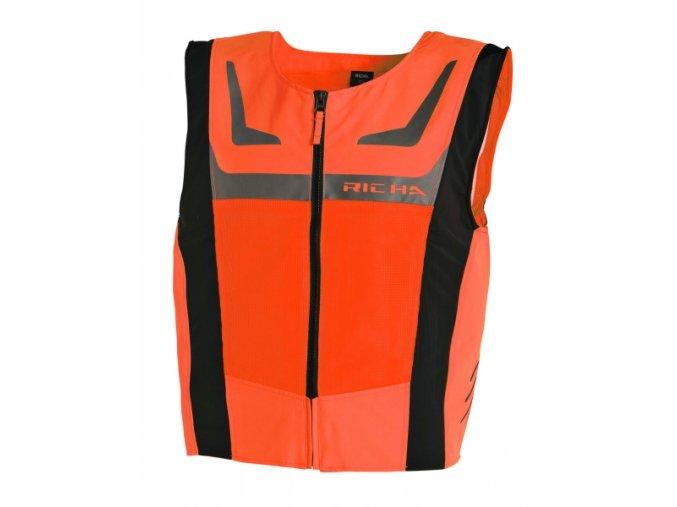 Reflexní vesta RICHA SAFETY MESH oranžová fluo