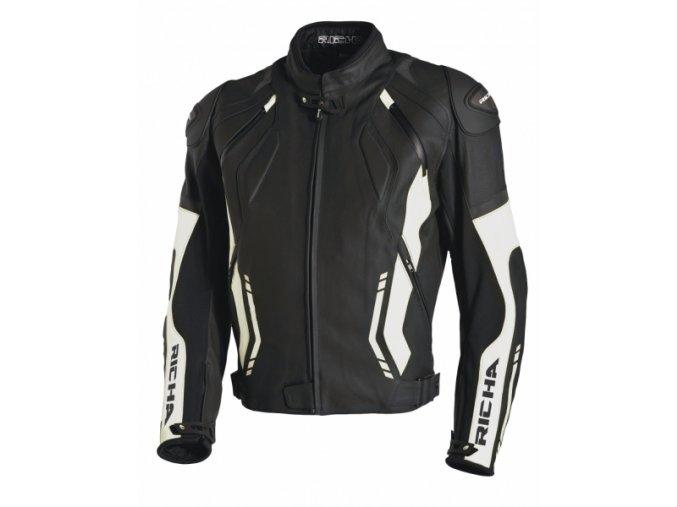 Moto bunda RICHA MUGELLO černo/bílá - narměrná velikost