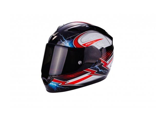 Moto přilba SCORPION EXO-1200 AIR FULGUR černo/bílo/červená
