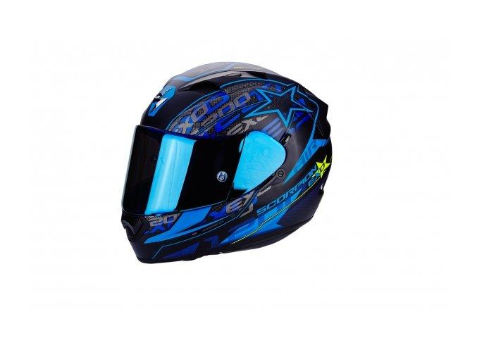 Moto přilba SCORPION EXO-1200 AIR SOLIS matná černo/modrá