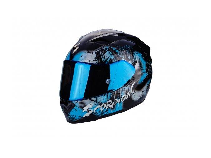 Moto přilba SCORPION EXO-1200 AIR TENEBRIS černo/modrá